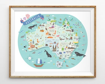australia map australian nursery map nursery art aussie map travel theme nursery