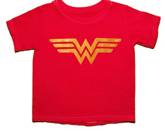 Wonder Woman, Girls Shirt, Superhero