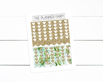 Terrarium Blooms    Ribbon Checklists    The Planner Fairy Checklist Planner Stickers *Collab with The Creative Bee Details Below