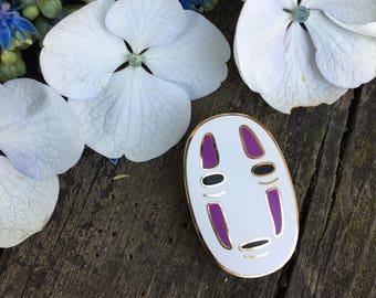 Spirited Away No Face Lapel Pin - Studio Ghibli Hard Enamel Pin