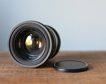 Vintage Carenar 35mm F2.8 Lens with Collapsible Rubber Anti Glare Hood