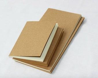 Pocket Notebook Refill Traveler's Notebook Kraft Notebook