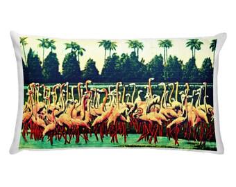 Flamingo Pillow Covers, Printed Pillows, Bird Pillows, Beach Home Wildlife Pillows, Coastal Pillows Pink Flamingo Decor, Flamingo Gifts