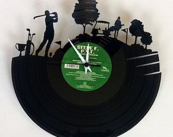 Vinyl Record Clock (Golf)