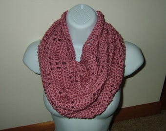 Hand Crocheted Cozy Cowl Infinity Scarf~Plum Wine