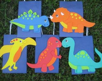 Dinosaur Birthday Party Favor Bags