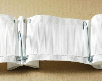Ruflette tape gathering Flemish head, curtains, Bandolier, 85mm white