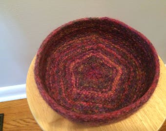Knitted Felted Bowls, Hand Knit Bowls, Purple Bowl, Decorative Bowl, Felted Bowl, Home Decor, Teacher Gift, Housewarming, Bridal Shower