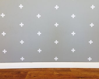 Swiss Cross Wall Decals - Removable vinyl wall decals/stickers