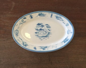Vintage nautical ceramic platter