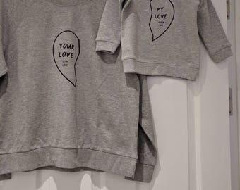 Mummy and baby matching sweatshirts