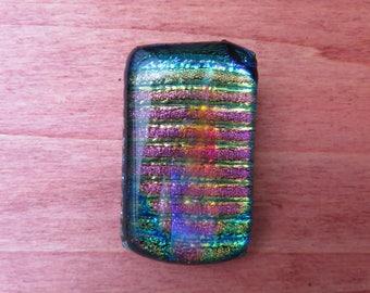 Holographic Rainbow Pendant, Dichroic Glass