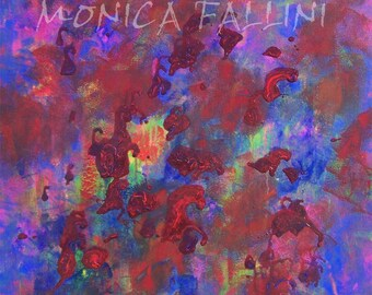 Abstract painting 24 x 25 inch modern art by artist Fallini