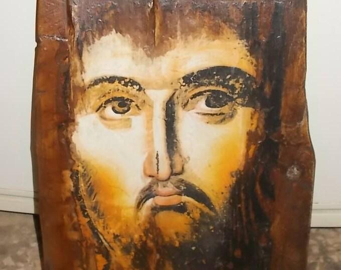 Decoupage christian orthodox,Custom made Orthodox icon,Jesus ,Religious icon,Vintage Orthodox icon of Jesus ,Byzantine icon