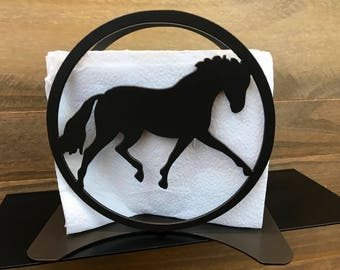 Lovely Horse Napkin Holder / Horse Kitchen Decor / Outdoor Napkin Holder / Mail  Holder