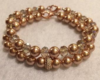 Swarovski Rose Gold Bracelet Set