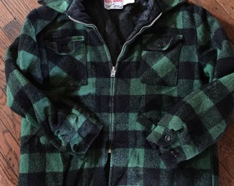 Vintage Men's Westherguard by Shane Wool Blend Jacket Coat Lumberjack Size Large