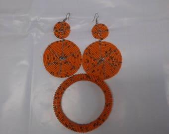 Beaded Bracelet and earrings sets.