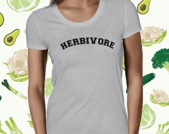 Herbivore Shirt for Women - Plant-based Statement T-shirt - Women's Vegan T Shirt - Plant Powered Tee for Women - Vegetarian Tee - Veggie T