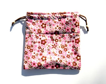 NEW Swim Wet Bag Waterproof - Flowers on Pink