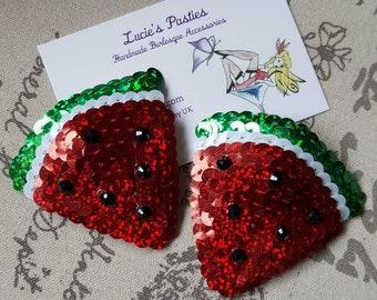 Watermelon nipple pasties