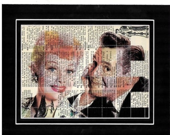 330 I Love  Lucy dictionary art print