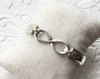 Infinity Spoon Handle Bracelet with Magnetic Clasp