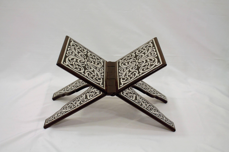 Handmade Silber beschichtet, Nussbaum Koran lesen Schreibtisch Koran Schreibtisch lesen Schreibtisch, islamische Dekor, Schreibtisch