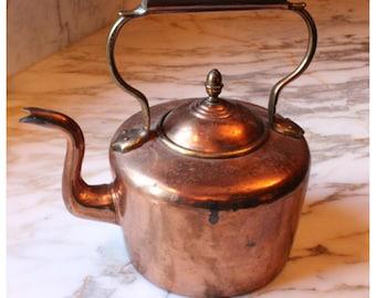 M5918 Antique Copper Tea Kettle/Pot