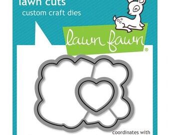 Lawn Fawn - Lawn Cuts - Dies - How You Bean Conversation Heart Add-On