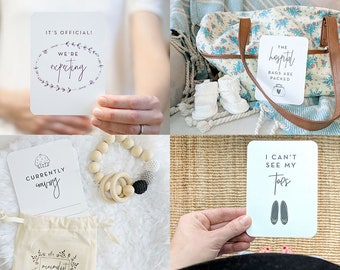 Pregnancy Milestone Cards: Minimalist. Pregnancy Milestones. Gender Neutral Milestone Cards. Baby Gift. Mom To Be Gift. Pregnancy Gift.