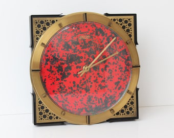 Rare Vintage, Wall Clock, Wall Decor, Living Room Wall Art, Wall Hanging, 70s, Clock for Wall, Made in Germany, Art Clock, Clock, Atlanta