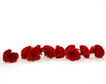 100 Valentine Red Baby Carnations - Artificial Flowers - PRE-ORDER