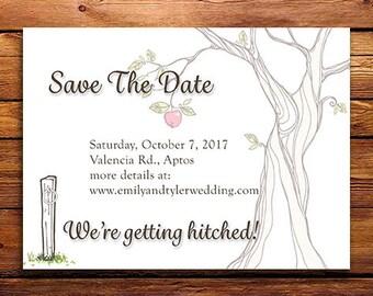 Save The Date Postcard - Western Theme - Customizable
