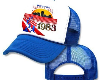 Boston Marathon 1983 Mesh Trucker Hat Cap