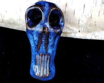 Skull Pipe, Skeleton Pipe, heady pipe, large pipe, Double bowl, unique pipe,   ceramic, handmade, Functional Art. Tobacco pipe. Smoking Pipe