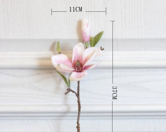 Silk magnolia real touch magnolia flower spring flower flower home decoration 5pcs