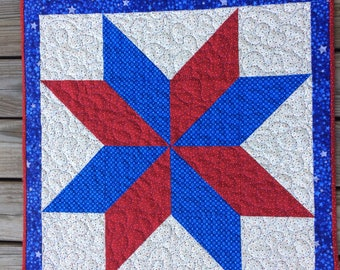 "Patriotic Wall Hanging or Table Runner, 26.75"" x 26.75"""