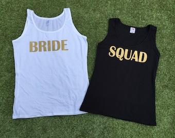 Bride & Squad Hen Party/ Bridal Party / Bachelorette Vest Tops