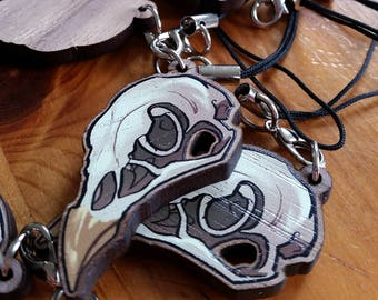 Wooden Plague Doctor Mask Charm