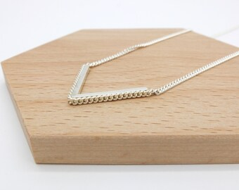 silver triangle necklace, sterling silver geometric necklace, everyday necklace, dainty, everyday silver necklace
