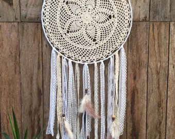 Large lace white dream catcher