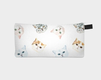 Pencil Case - Cat Lover Gift - Pencil Pouch - Pen Case - Gift for Cat Lover - Crazy Cat Lady - Teacher Gift - Gifts For Her - Birthday Gift