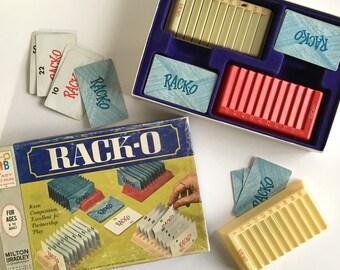 RACK-O - Vintage Milton Bradley Family Game