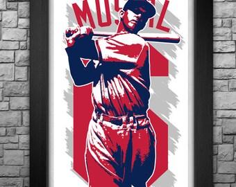 "STAN MUSIAL 11x17"" art print"