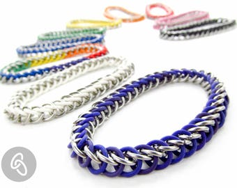 Stretchy Chainmaille Bracelet - Half Persian Pattern - Pick Your Color