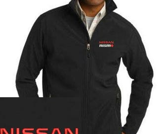 NISSAN NISMO Embroidered Black Port Authority Core Soft Shell Adult Jacket NEW