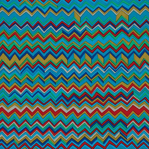 ZIG ZAG COOL PWBM043 Brandon Mably for Kaffe Fassett Collective Sold in 1/2 yard increments