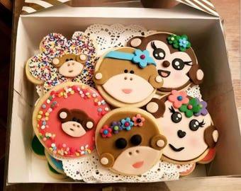 Cutie Monkey Cookies