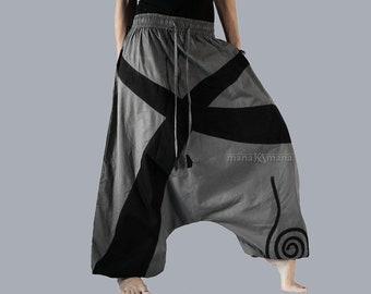 Afghani Pants - Aladdin Trousers -Harem pants - Alibaba Pants - Men - Women - Cotton